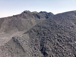 Heap of coal in a yard