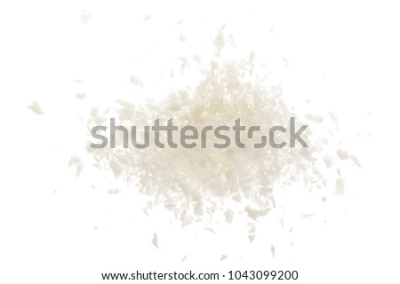 Heap of coconut flakes isolated on white background #1043099200