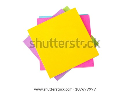 Heap of colorful sticky notes.