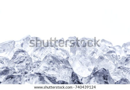 heap of crushed ice on white...