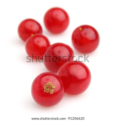 Heap of currant on a white background