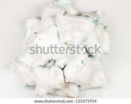 Heap of dirty diapers