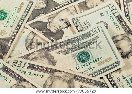 Heap of Dollars; Money Background