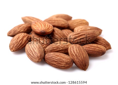 Heap of dried almonds