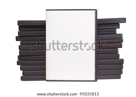 Heap of DVD isolated on the white background