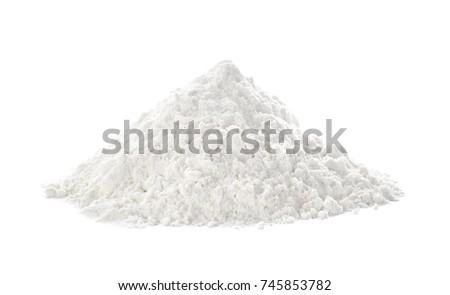 heap of flour on white...