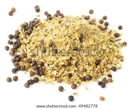 Heap of hot lime-pepper spice, macro shot, isolated on white