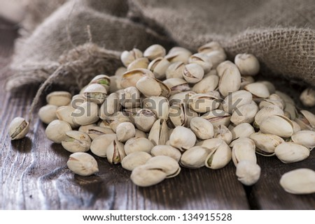 Heap of Pistachios (salted and roasted) - stock photo