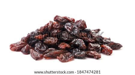 Heap of raisins on a white background. Isolated Stock photo ©