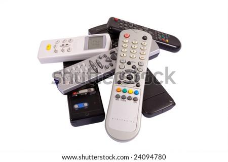 Heap of remote controls