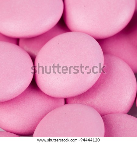 heap of round pills. medical background