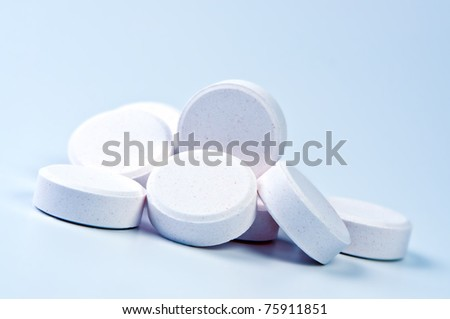 Heap of tablets close up.