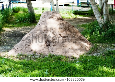 heap of the clay rests upon herb