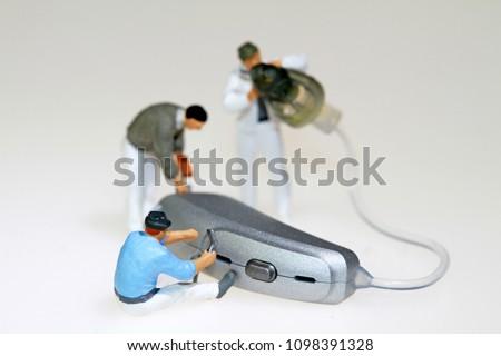 hearing aid service Stockfoto ©