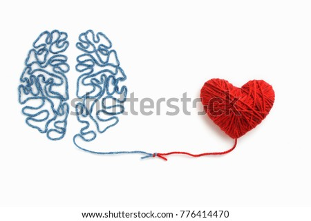 heart and brain connected by a...
