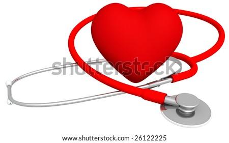 Heart & Stethoscope