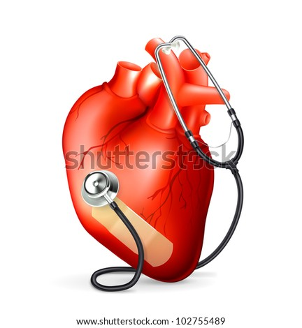 Heart and stethoscope, bitmap copy