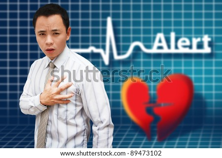 Heart Attack Asia Business man