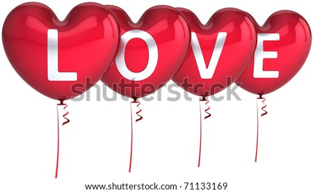 happy birthday heart balloons. stock photo : Heart balloons