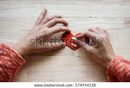 Heart Broken Love Mend Bandage #574954138