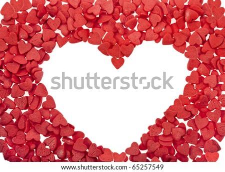 heart card of sweet sprinkles