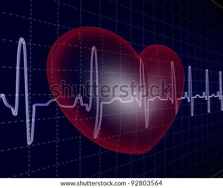 Heart, cardiogram