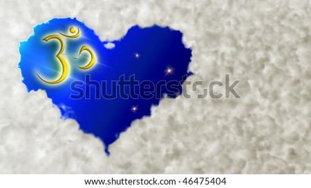 Heart Cloud And Om