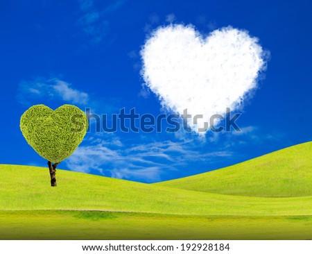 Heart cloud with heart tree