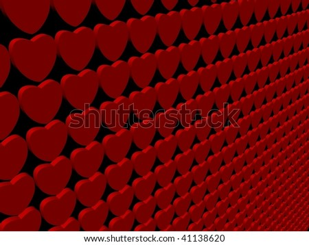 heart 3d render background on black illustration