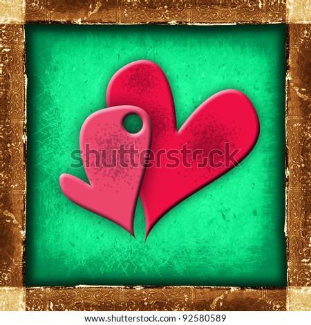 heart design - stock photo