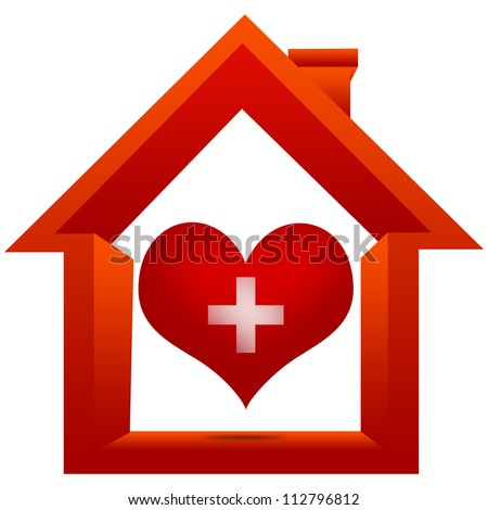 Heart Donation Center Concept Present By The Red Heart With Cross Sign Inside The ...