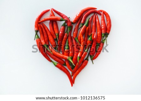 Shutterstock heart from chili peppers