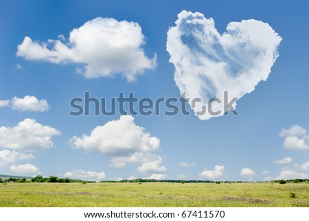 heart from cloud