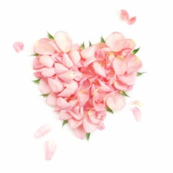 Heart from the most gentle rose-petals