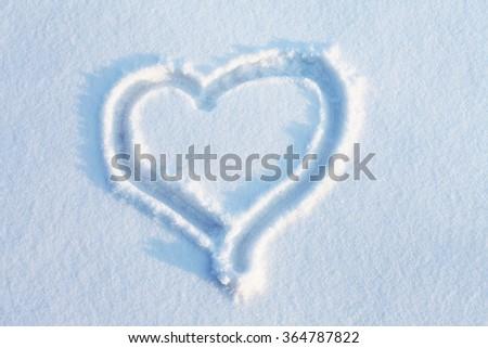 heart in snow #364787822