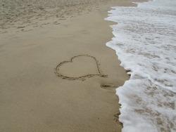 Heart in the Beach Sand