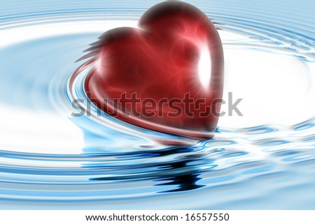 heart in water illustration