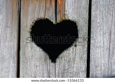 heart in wood