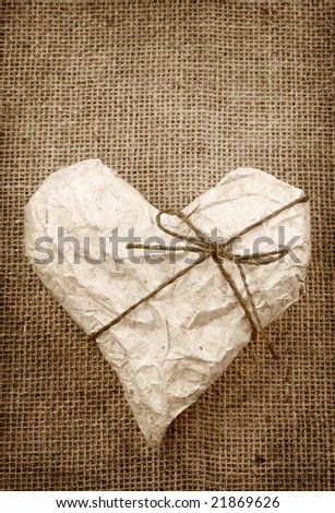 Heart in Wrapping Paper