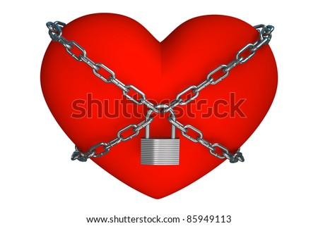 heart is closed to lock