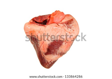 Heart isolated on a white background