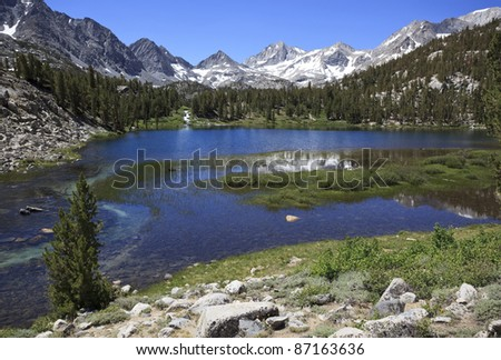 Heart Lake in eastern Sierra Nevada mountains of California