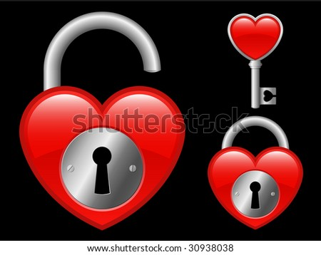 Heart locket and key