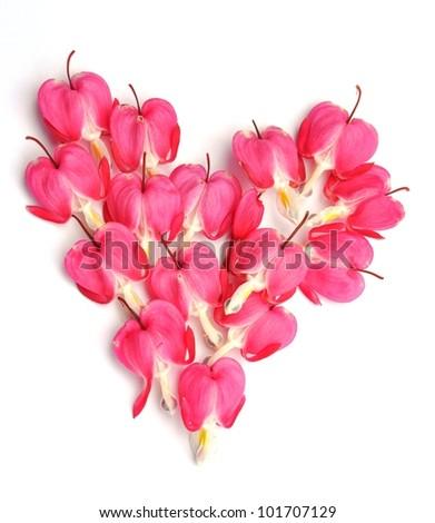 Heart made from hearts - stock photo