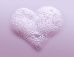 Heart Made from Soap Foam