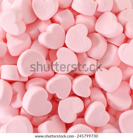 Heart Marshmallows Background