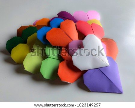 Heart of Love / Valentine / Love / Heart-shaped background #1023149257