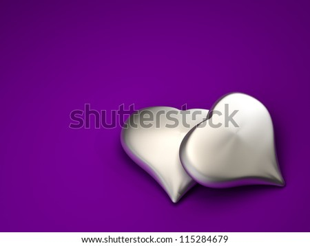 Heart of Silver on background
