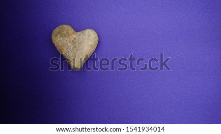 Heart of stone literally , background blue. #1541934014