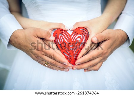 heart of the newly married couple